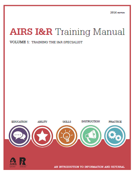 airs i r training manual alliance of information and referral systems