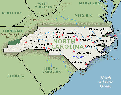 North Carolina AIRS Alliance Of Information And Referral Systems - North carolina on the us map
