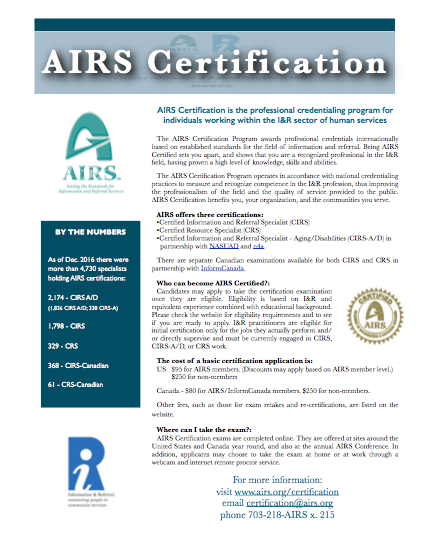 Certification flyer